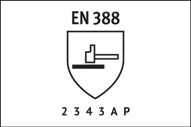 przewodnik porękawicach oznakowanie ochrony przedczynnikami mechanicznymi