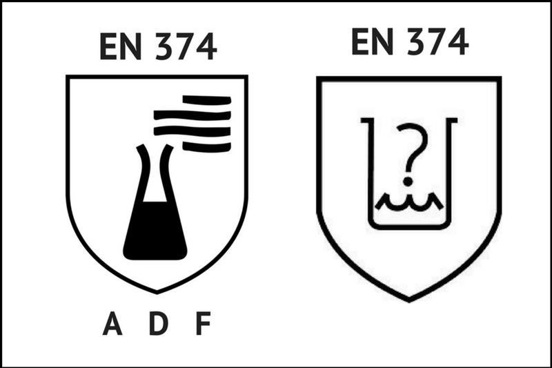 przewodnik porękawicach oznakowanie ochrony przedczynnikami chemicznymi ibiologicznymi