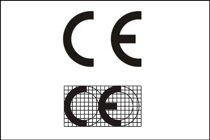 znak CE iwłaściwe proporcje znaku CE