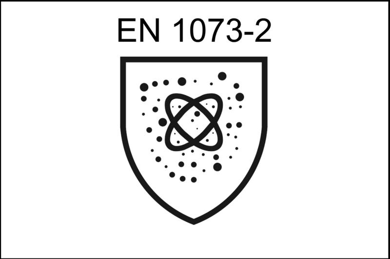 przewodnik porękawicach oznakowanie ochrony przedpromieniowaniem jonizującym