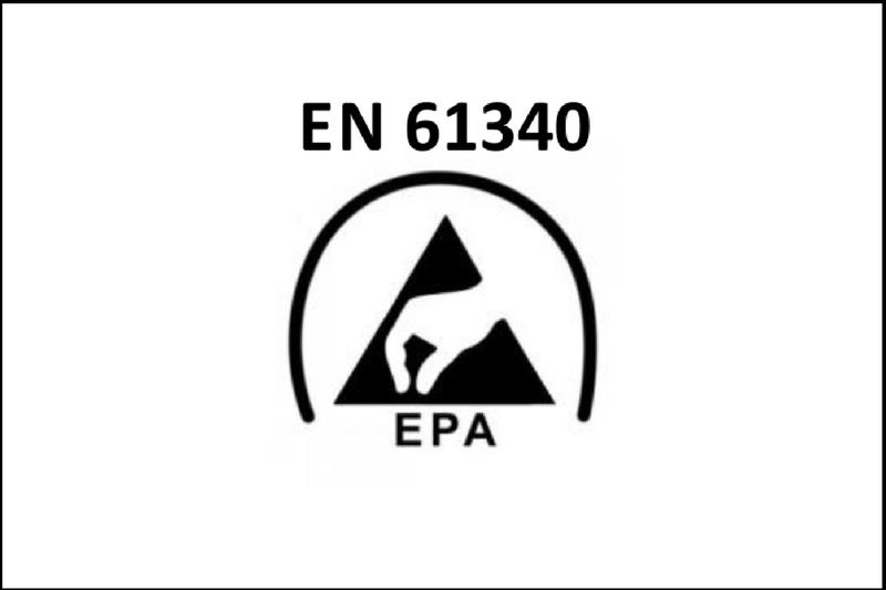 przewodnik porękawicach oznakowanie ochrony przedelektrycznością statyczną