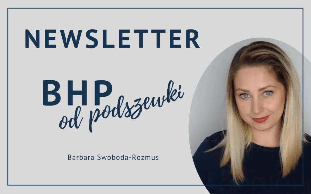 Newsletter BHP odpodszewki - baner