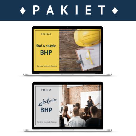 Pakiet 2 webinarów Staż pracy w służbie BHP i Szkolenia BHP