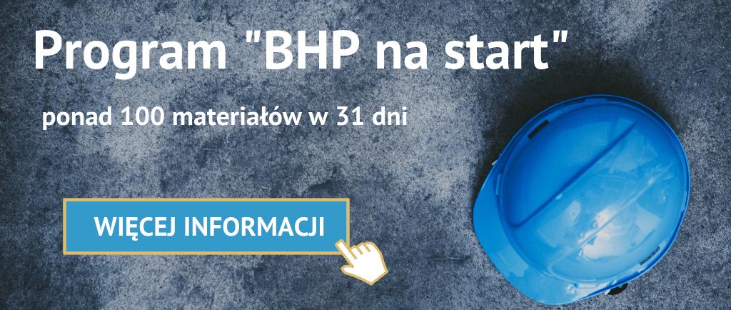 Program BHP nastart - baner reklamowy zachęcający dokliknięcia izapoznania się zeszczegółami Programu