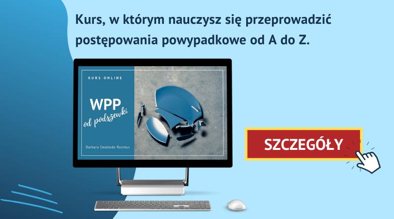 Kurs online Wypadek przy pracy odpodszewki - baner informacyjny