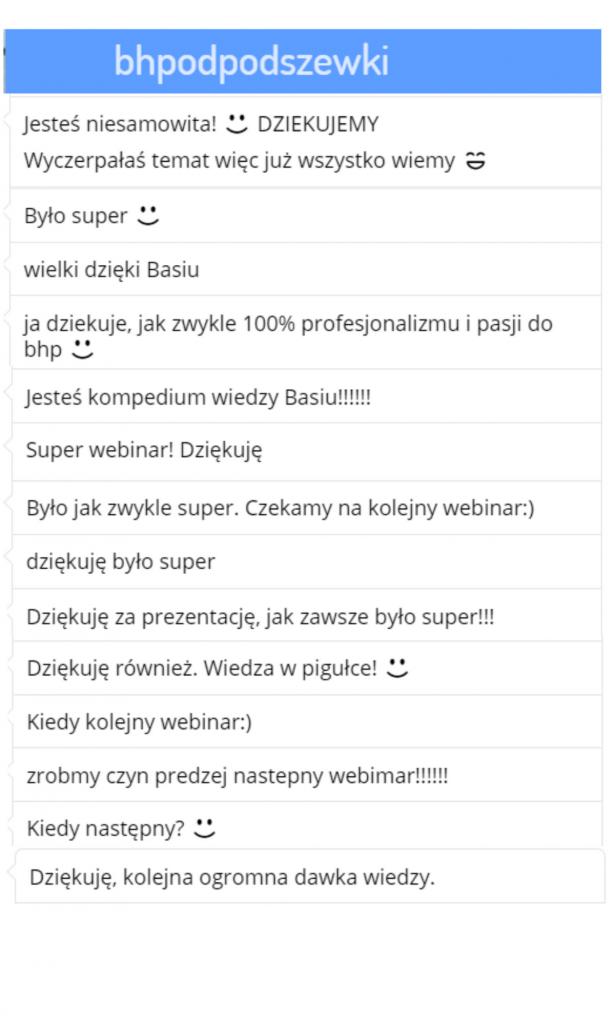 """Webinar """"Badania profilaktyczne i skierowania"""" - opinie uczestników webinaru na żywo"""